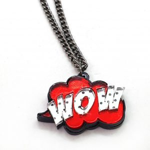 "Collana décollété POP ART ""WOW"""